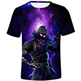 allenshopping T-Shirts Men Women Fortnite 3D Print Breathable Summer Short Sleeve Shirts Fitness Tee Tops T15 L