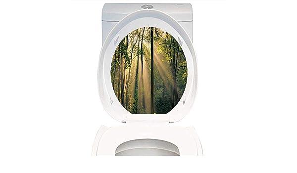 Amazon.com: toilet sticker themeative print farm house decor morning