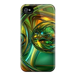 Iphone 4/4s Hard Back With Bumper Silicone Gel Tpu Case Cover Ultra Hd