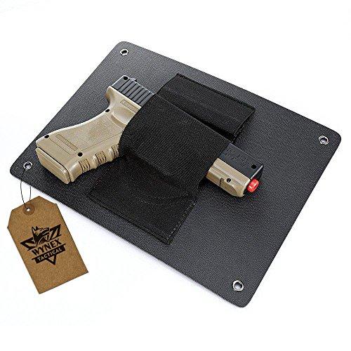 Wynex Pistol Holster Quick Access Handgun Holder - Bedside Wall Mounted Tactical Gun Holster| Under The Desk Pistol, Fits Nearly Any Handgun
