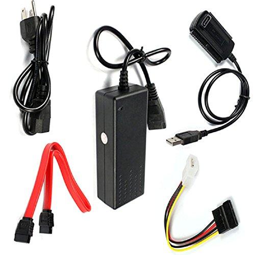 2.0 USB 3.5 to IDE/SATA Hard Drive Converter Cable (Black) - 5
