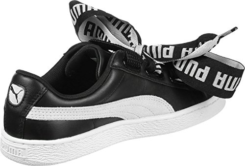Mode Puma PUMA PUMA Basket BLACK Heart Suede Safari WHITE Femme OqxqSI4v