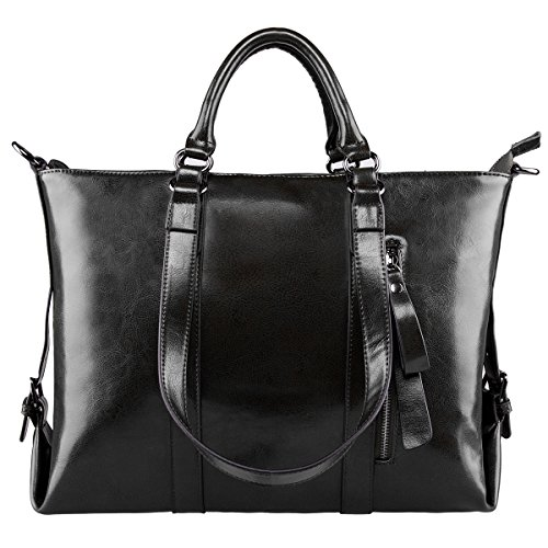 S ZONE Genuine Leather Shoulder Handbag