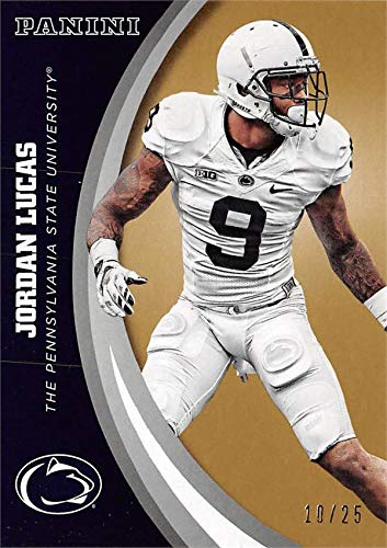 Jordan Lucas football card (Penn State Nittany Lions) 2016 Panini Team Collection #30 Gold Edition LE ()