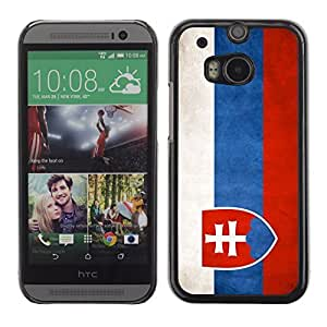 Graphic4You Vintage Slovak Flag of Slovakia Design Hard Case Cover for HTC One (M8) by icecream design