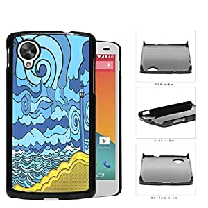 Psychedelic Aqua Seashore Lighthouse Hard Plastic Snap On Cell Phone Case LG Nexus 5 by runtopwell