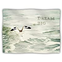 "Kess InHouse Robin Dickinson ""Dream Big"" Ocean Bird Pet Dog Blanket, 40 by 30-Inch"