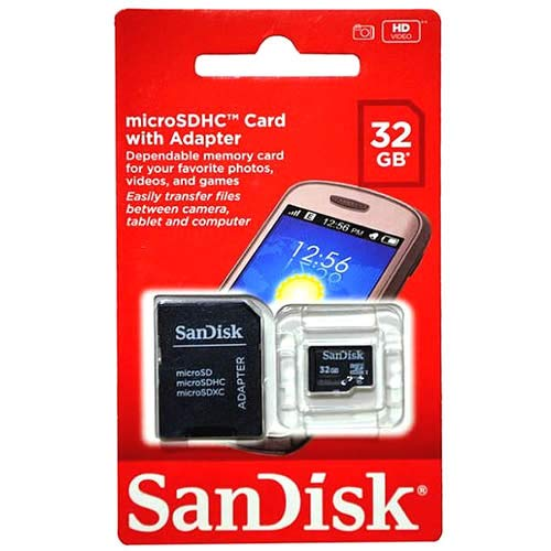 SanDisk Standard - Flash memory card - 32 GB - Class 4  - SDHC Retail Package