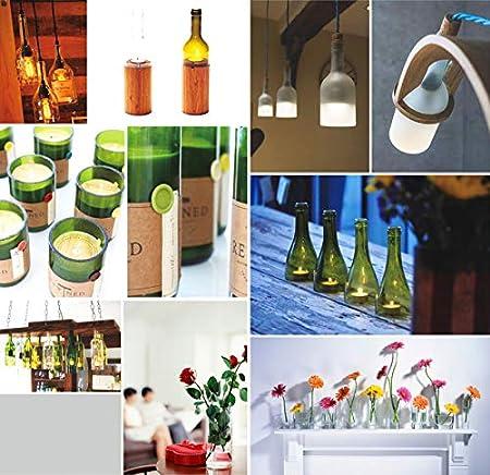 Cortador Botellas Vidrio Aleación Aluminio Azul Set Corte Botella Vino Herramienta Corte Aleación DIY Se Utiliza Para Cerveza Whisky Champán Botella Redonda Máquina Cortadora Botellas Cuadradas