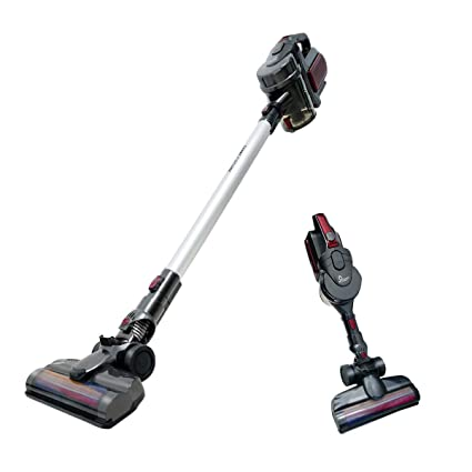 Selenechen Cordless Vacuum Stick Vacuum Handheld Car Vacuum 2 In 1 Lightweight Bagless Detachable Rechargeable Upright Vacuum Cleaner With Led Light