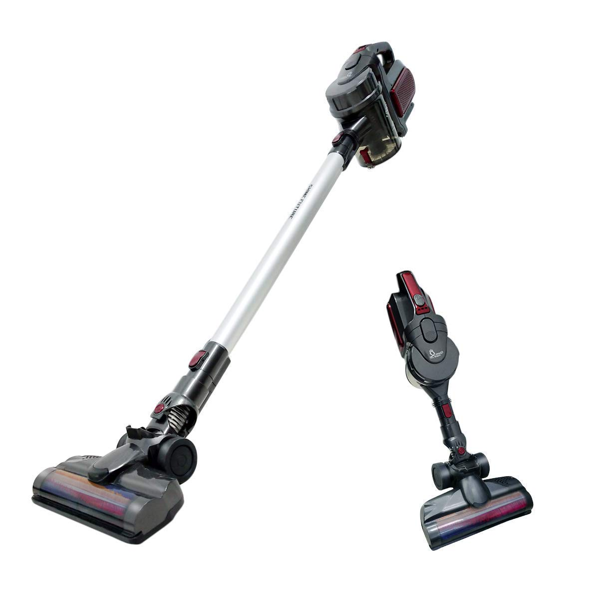 Cordless Vacuum Stick Vacuum Handheld Car Vacuum 2 in 1,Lightweight Bagless Detachable Rechargeable Upright Vacuum Cleaner with LED Light,8500pa Strong Suction for Home Cleaning