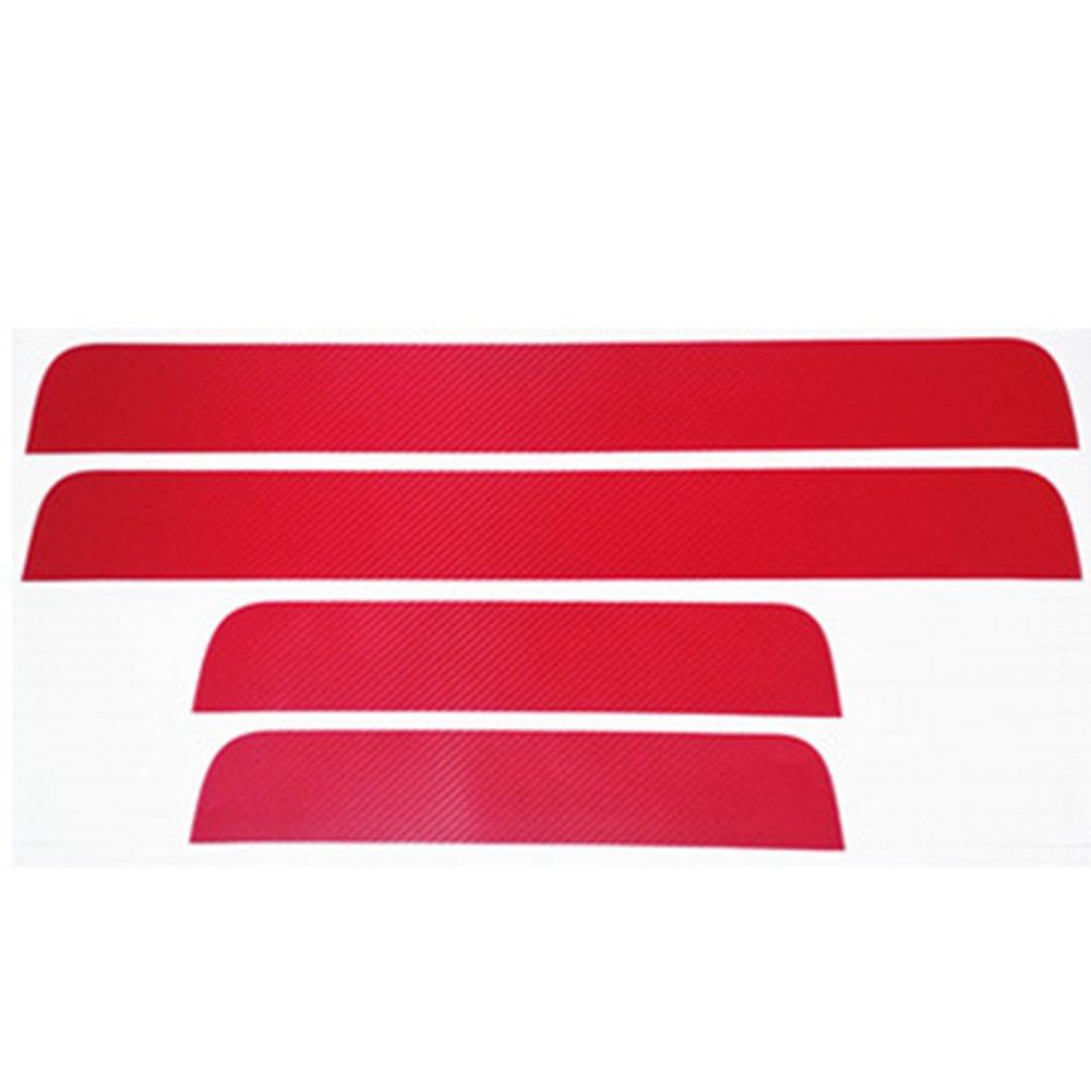 4 Pcs Protections de Seuils de Portes de Voitures Protecteur 3D Anti-Rayures pour Porte de Voiture Bandes de Protection 67 * 7 CM/41 * 8 CM Reinefleur