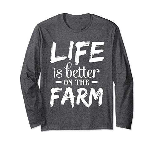 Badass Little Girl Costumes (Unisex Perfect Farmer T-shirt Gift LIFE is better on the FARM Large Dark Heather)