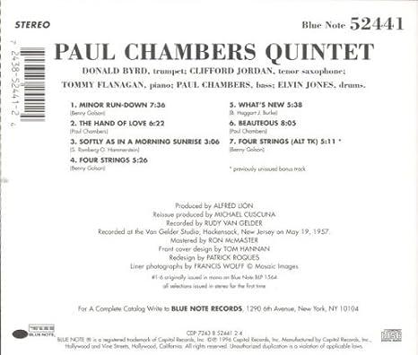 Paul Chambers Quintet: Paul Chambers Quintet: Amazon.es: Música