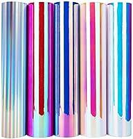 "TECKWRAP 12"" x 12"" Holographic Adhesive Precut Vinyl Sheets Pack"