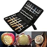 Fruit Carving Set,Professional 46Pcs Set Portable Carving Tool Set Fruit Vegetable Food Garnishing / Cutting / Slicing / Peeling Garnish Tools Kit
