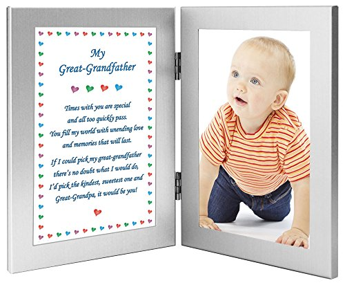 Great Grandfather Gift for Birthday or Christmas, Great-Grandpa Poem - Add 4x6 Inch Photo (Gifts Grandfathers Great For)