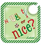 CR Gibson Lolita Appetizer/Cocktail Plates, Naughty or Nice, Set of 4