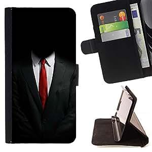 Momo Phone Case / Flip Funda de Cuero Case Cover - ANÓNIMO SUIT - Sony Xperia M5