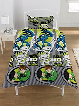 linge de lit ben 10 Parure housse de couette Linge de lit Ben 10 Ten 1 Personne  linge de lit ben 10