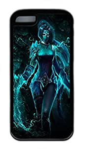 iPhone 5C Case, iPhone 5C Cases - Durable Protective Black Soft Rubber Back Case for iPhone 5C Akali League Of Legends 7 Utral Slim Soft Back Bumper Case for iPhone 5C