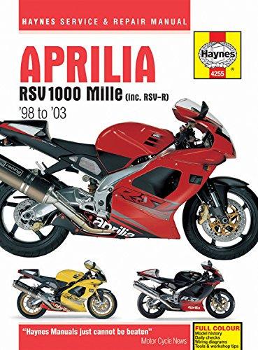 Aprilia RSV 1000 Mille (inc. RSV-R) '98 to '03 (Haynes Service & Repair ()