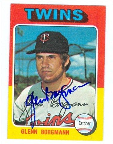 Autograph Warehouse 33769 Glenn Borgmann Autographed Baseball Card 1975 Topps Rb