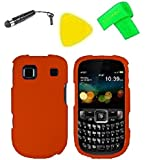 Phone Cover Case Cell Phone Accessory + Extreme Band + Stylus Pen + Yellow Pry Tool For AT&T ZTE Z431 Altair (Orange)
