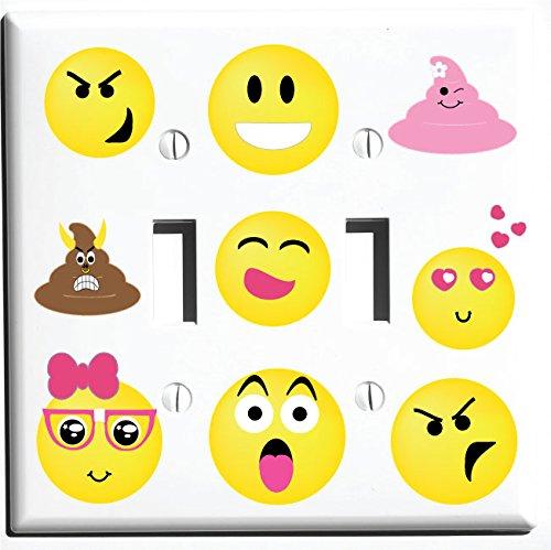 Emoji Interruptor de luz placa de pared fundas y cubiertas ...