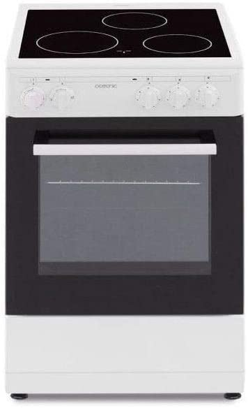 Cocina vitrocerámica 50 x 50 cm, Horno convección Natural, Horno 48 L, Color Blanco: Amazon.es: Coche y moto