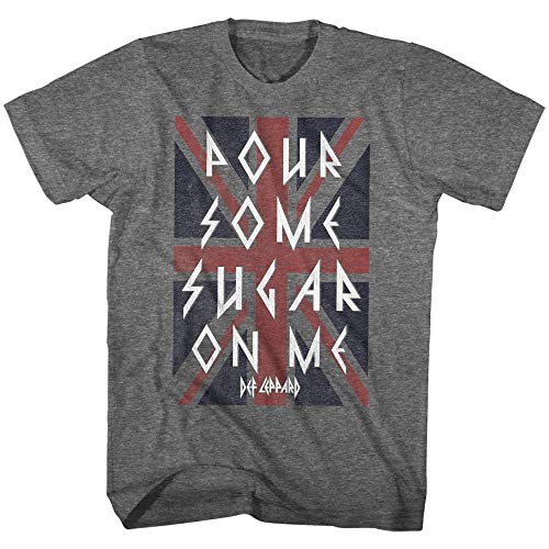 Def Leppard 80s Heavy Metal Band Rock n Roll Pour Some Sugar Adult T-Shirt 4X ()