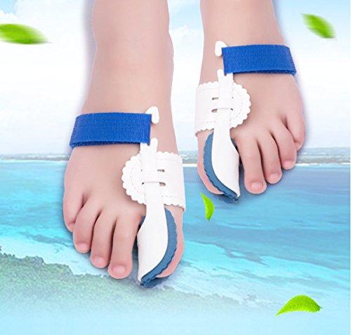 VIEEL1 pair Bunion Device Hallux Valgus Orthopedic Braces Toe Correction Foot Care Corrector Thumb Big Bone Orthotics Toe Separators Toe Straightener (blue)