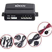 KKmoon Voiture Parking Reverse Sauvegarde Radar Sound Alerte avec 4 Capteurs