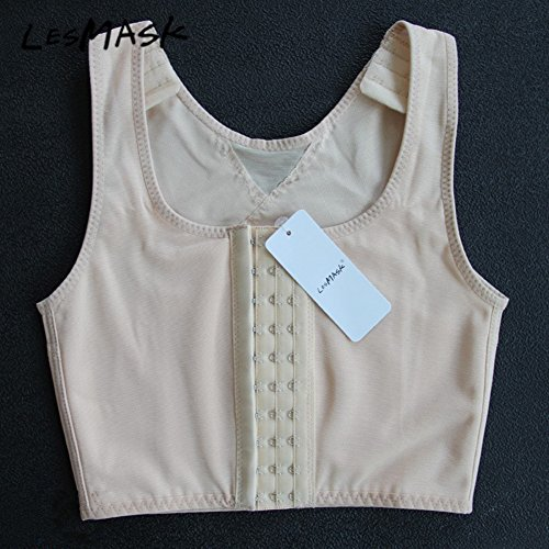 8456f6dffe Lesbian Breathable Super Flat Les Compression 3 Rows Central Clasp ...