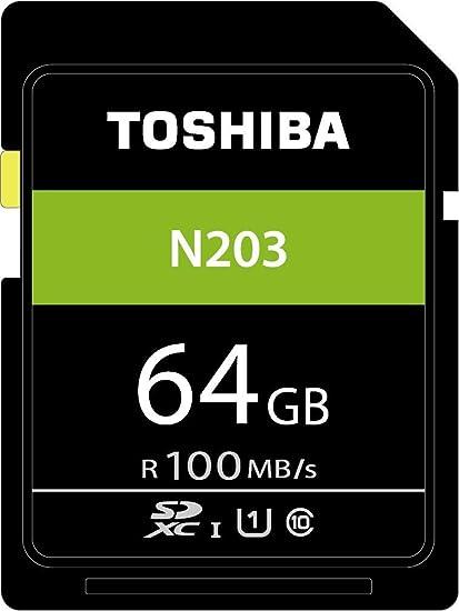 Toshiba 64/GB N203/SDXC UHS-I U1/classe 10/scheda SD memory card 100/MB//s thn-n203/N0640/a4