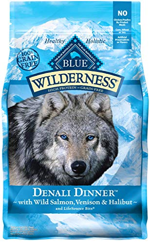 Blue Buffalo Wilderness Denali Dinner High Protein Grain Free, Natural Dry Dog Food With Wild Salmon, Venison & Halibut 4-Lb Review