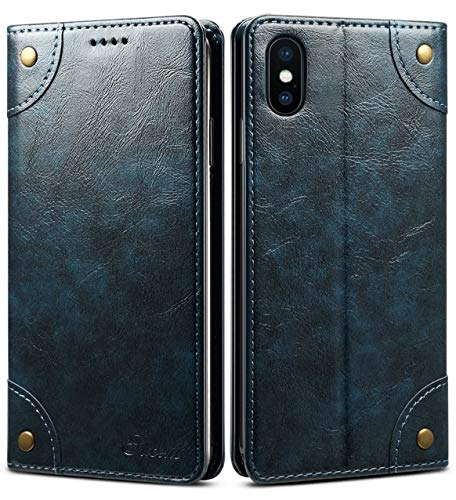(iPhone 8 Case, iPhone 7 Case, SINIANL Leather Wallet Folio Case Book Design Flip Cover with Stand and ID Credit Card Slot Magnetic Closure for iPhone 8 / 7)