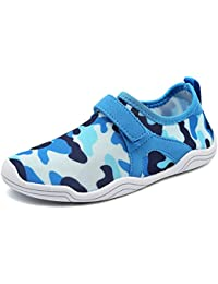 9c0adb662d45 Fantiny Boys   Girls Water Shoes Lightweight Comfort Sole Easy Walking  Athletic Slip on Aqua Sock