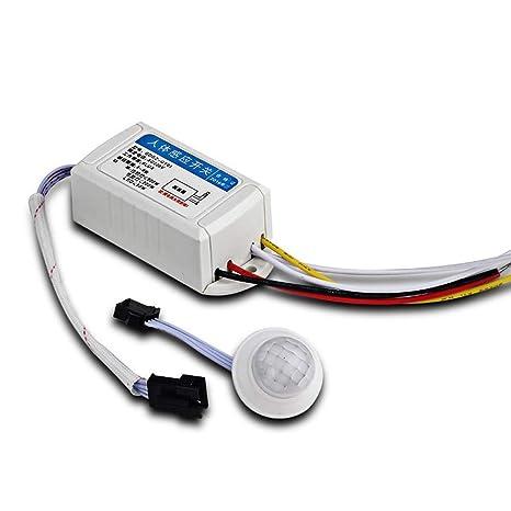 GFULLOV Blanco AC 220V Infrarrojo Cuerpo Sensor Movimiento ...