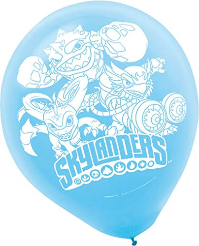 amscan Skylanders Printed Latex Balloons, Party Favor -