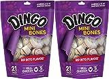 (2 Pack) Dingo Mini – White 2.5 Inch, 21 Bones each For Sale