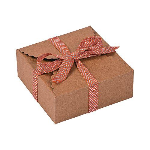 Scalloped Favor Boxes (Kraft Paper Scalloped border Favor Boxes)