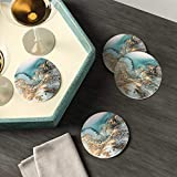 Lahome Marble Pattern Coasters - Round Drinks