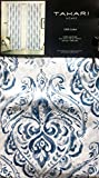 Cheap Tahari Window Panels Draperies Curtains Set of 2 Boho Floral Paisley Pattern in Shades of Blue and Gray on White 52 Inches by 84 Inches