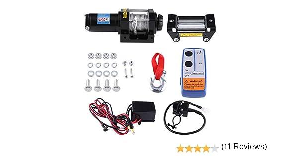 12 V Cabrestante de recuperación de 4000Lbs ATV eléctrico Kit, mando a distancia inalámbrico 12 V 4 WD ATV UTV remolque camión coche: Amazon.es: Amazon.es