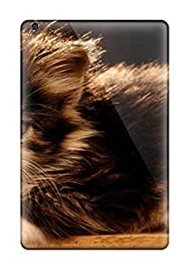 David Jose Barton's Shop 9659895K23086600 Ipad Mini 3 Case, Premium Protective Case With Awesome Look - Kitty On A Wooden Beam