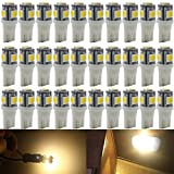 AMAZENAR-30Pack-Warm-White-Replacement-Stock--194-T10-168-2825-W5W-175-158-Bulb-5050-5-SMD-LED-Light12V-Car-In