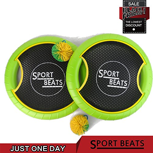 Outdoor sports trainers4me sport beats outdoor bouce back trampoline paddle ball game set for 2 player fandeluxe Image collections