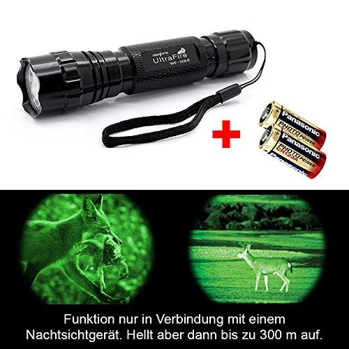 INFRAROT UltraFire Wf-501B Led Taschenlampe von LED-MARTIN (inkl. 2x CR123A Batterie)