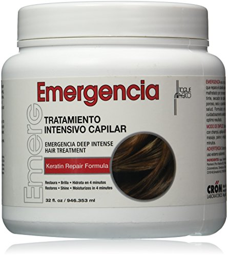 Toque Magico Emergencia Deep Intensive Hair Treatment for Unisex, 32 Ounce (Best Dominican Deep Conditioner)